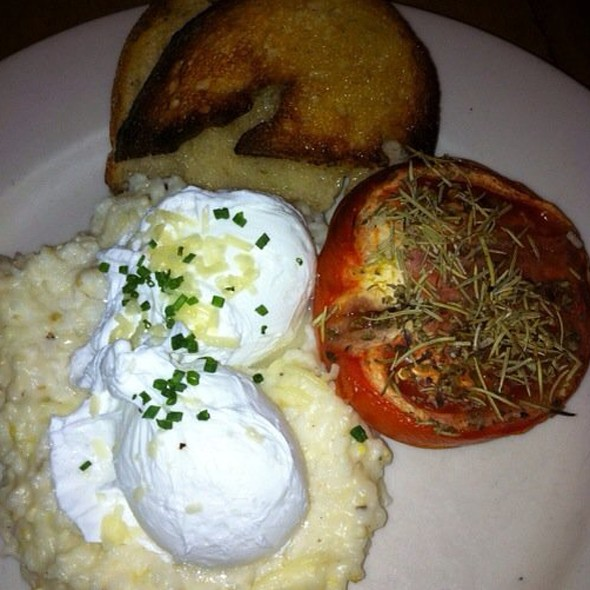Eggs Over Grits - Freemans, New York, NY