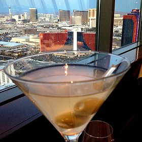 Dirty Chopin Martini - Alizé at the Top of the Palms Casino Resort, Las Vegas, NV