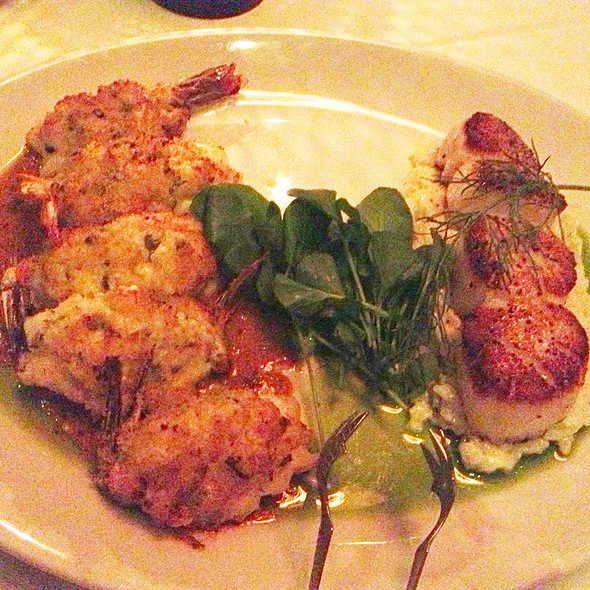 Stuffed Colossal Prawns & Seared Diver Scallops - AQUA by El Gaucho, Seattle, WA