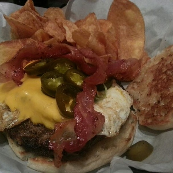 The Breakfast Burger - The Troll Pub Under the Bridge, Louisville, KY