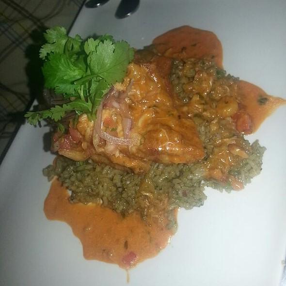 Peruvian Tilapia Sauteed Picante De Camarones &cilantro Rice - Surfish Bistro, Brooklyn, NY
