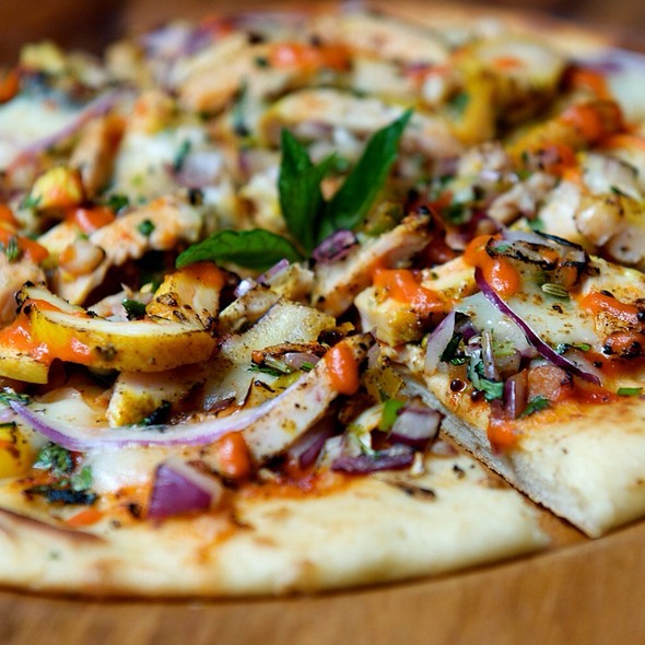 Naan Bread Pizza With Spice Paneer - Cinnamon Soho, London