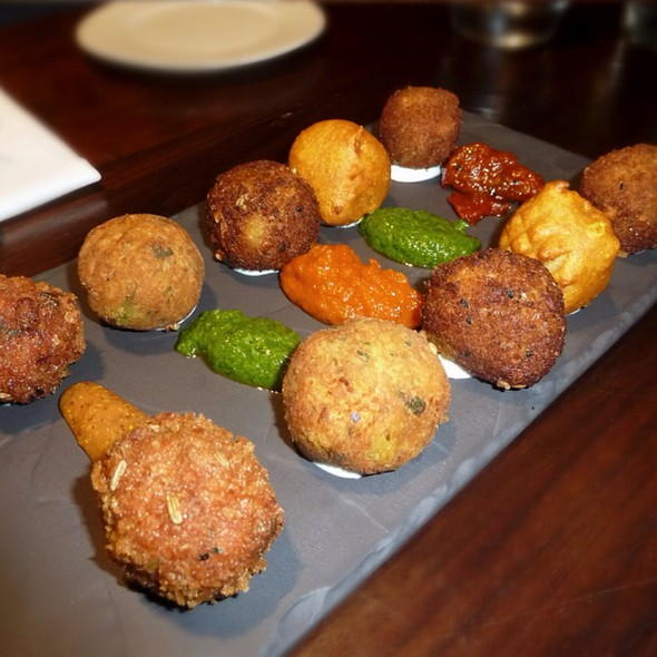 Wild Game With 5 Different Kinds Of Ball & Dipping Sauce - Cinnamon Soho, London