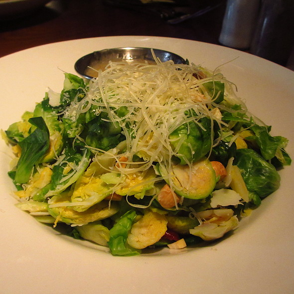 Brussels sprouts salad with almonds , manchego cheese and medjool dates - HUB 51, Chicago, IL