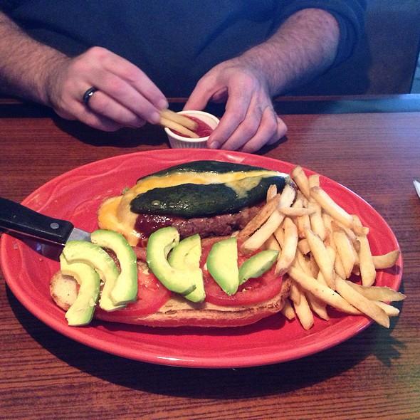 Chile Relleno Burger - Malabar American Cooking, Sacramento, CA