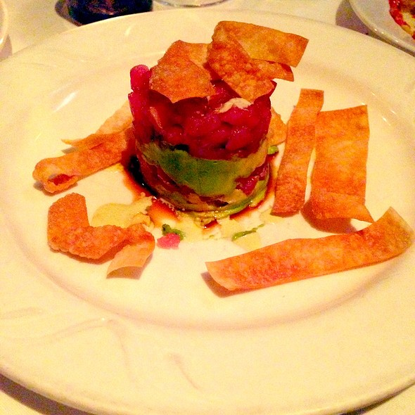 Tuna Tartare With Avocado And Wasabi Sauce - Tarantino Restaurant, Westport, CT
