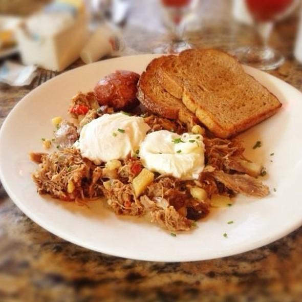 Duck Confit Hash And Poached Eggs - Stella, Boston, MA