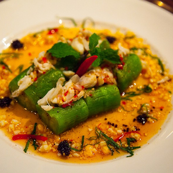 Aubergine & Crab Meat Salad - Patara - Soho, London