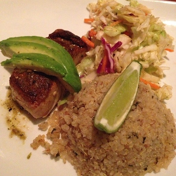 seared mahi w/ avocado bernais sauce with mango infused basmati - Appaloosa Grill, Denver, CO