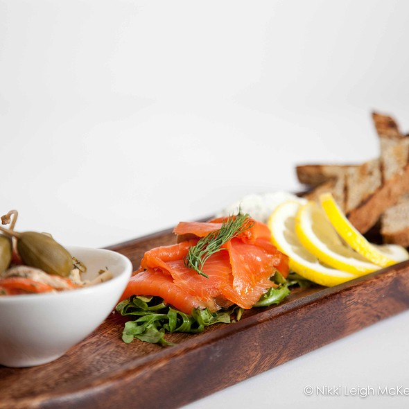 Smoked salmon and Irish soda bread - Quinn's Steakhouse & Irish Bar, Toronto, ON