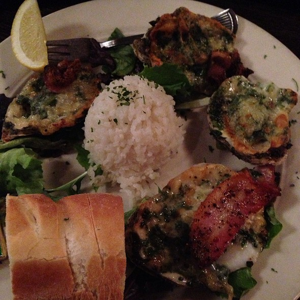 Oysters Rockafeller - Jonah's Seafood House, East Peoria, IL