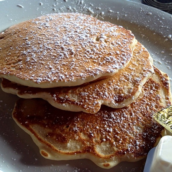 Oatmeal Buttermilk Pancakes - Ciccio's / Water, Tampa, FL