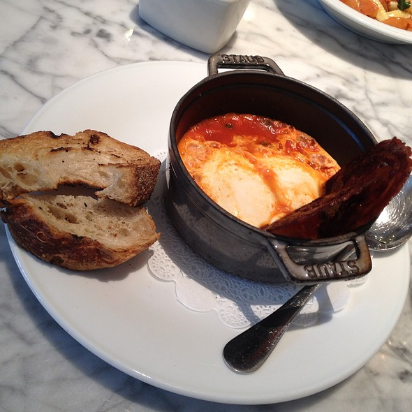 Baked Eggs With Spicy Tomatoes - Storico, New York, NY