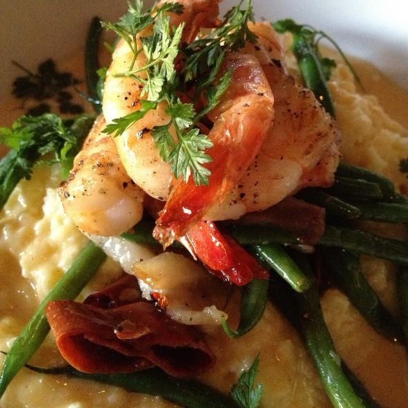 Grilled Shrimp Manchego Polenta - Bistro Aix, Jacksonville, FL