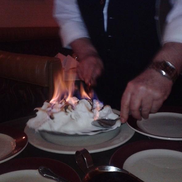 Baked Alaska Flambé - Sabatino's Restaurant, Chicago, IL