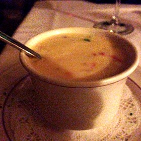 Lobster Soup - Villa Ravenna Italian Restaurant, Tulsa, OK