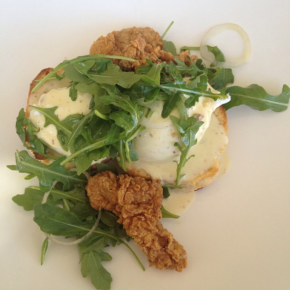 Fried Oysters Eggs Benedict - Olivia, Austin, TX