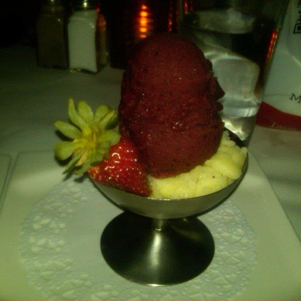 Honeydew and Blackberry Sorbet - Cafe Du Soleil, New York, NY