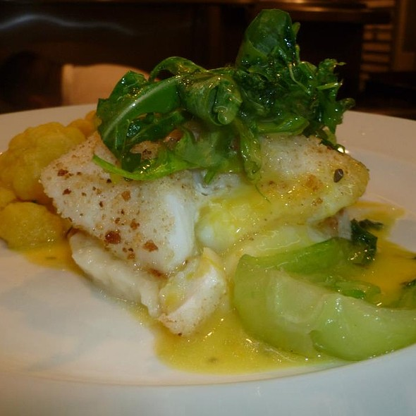 Pan Roasted Native Cod Filet, Pinot Bianco, Arugula and Potato Puree - Il Capriccio, Waltham, MA