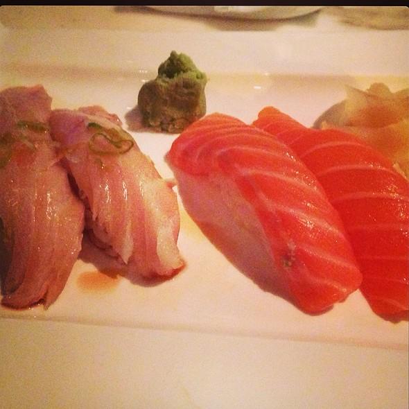 Albacore And Sake Nigiri - BlueFin Japanese Restaurant, San Jose, CA