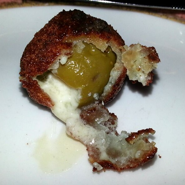 Deep Fried Stuffed Olive - Christos Steak House, Astoria, NY