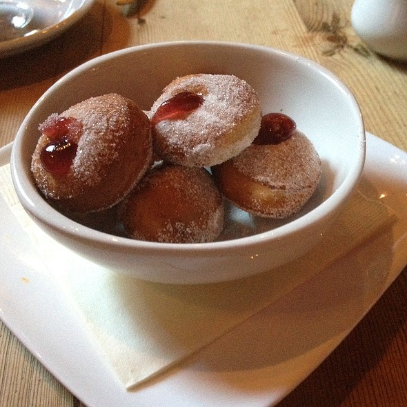 Vanilla Beignets W/ Raspberry Jam - Beauty & Essex- New York, New York, NY