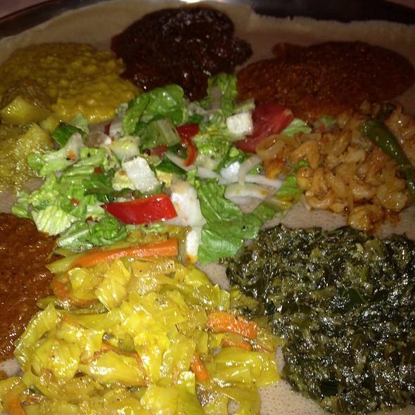 Family Style Sampler - Demera Ethiopian Restaurant, Chicago, IL