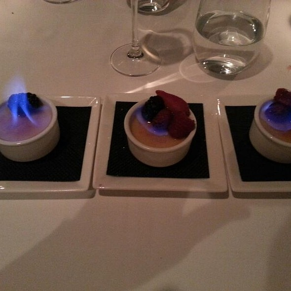 Grand Marnier Creme Brulee Trio - La Tour, Vail, CO