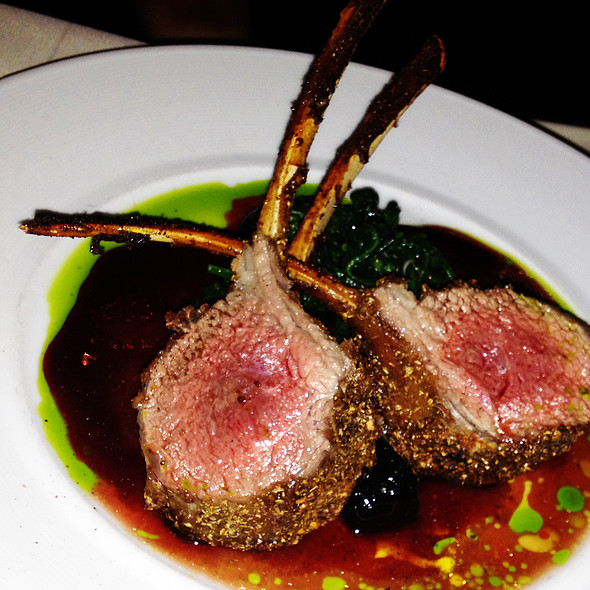 Coriander Crusted Australian Lamb Rack - Triomphe, New York, NY