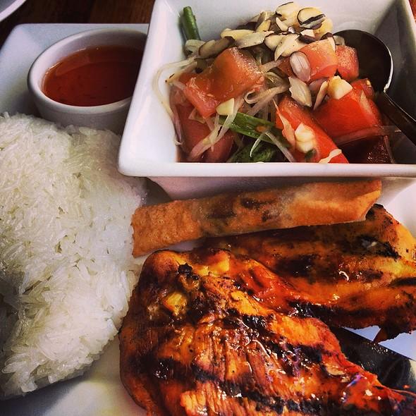 Som Tum + Kai Yang + Sticky Rice - Summer Summer Thai Eatery, Emeryville, CA