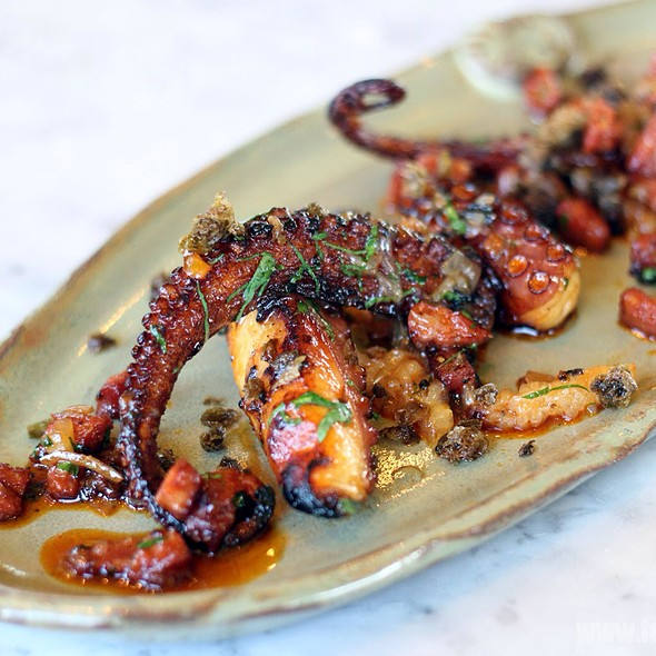 Chargrilled Octopus - Duck & Waffle, London