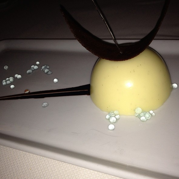 Salted White Chocolate Dome With Peppermint - Marcel's by Robert Wiedmaier, Washington, DC