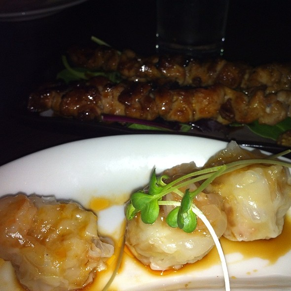 Shrimp Shumai And Chicken Skewers - Wann Japanese Izakaya, Seattle, WA