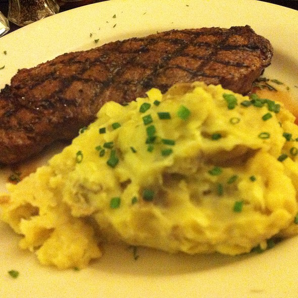 Ny Strip Steak And Garlic Mashed Potatoes - Omaha Steakhouse - Phoenix, Phoenix, AZ