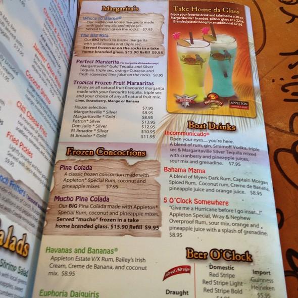 Margaritaville Drink Recipes Havana Banana
