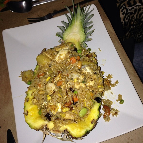 Pineapple Fried Rice With Shrimp - Poor Calvin's, Atlanta, GA