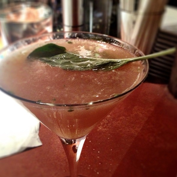 Grapefruit Basil Martini - Magnolias at the mill, Purcellville, VA