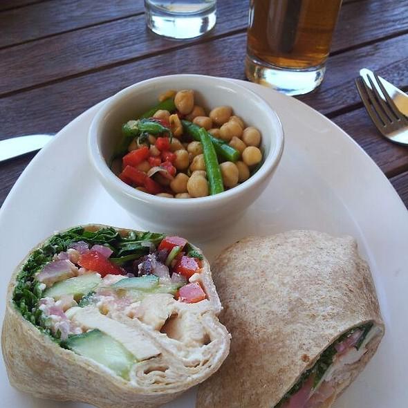 Mediterranean Chicken Wrap - eleven plates & wine, Austin, TX