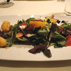 Babe Farms organic lettuce salad - Root 246 at Hotel Corque, Solvang, CA