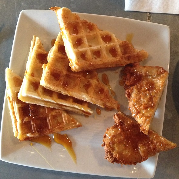 Chicken and Waffles - Sprig Restaurant, Decatur, GA