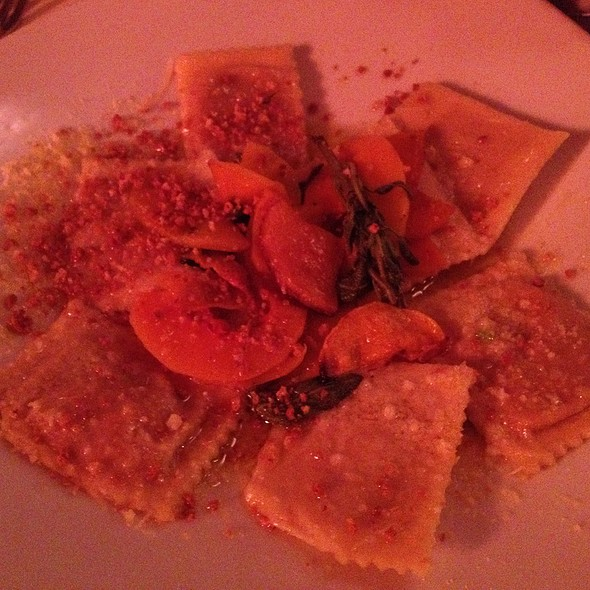 Butternut Squash Ravioli With Brown Butter And Sage Sauce - Osteria D' Assisi, Santa Fe, NM