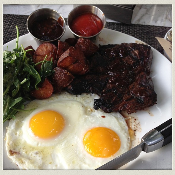 Hangar Steak, Eggs, Crispy Potatoes And Arugula - Cantala at Riviera Palm Springs, Palm Springs, CA