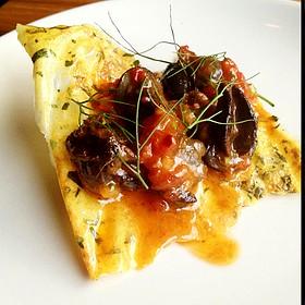 Braised Snails On Top Of A Dyhygrated Garlic Crisp - Skin + Bones, Toronto, ON