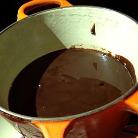 Chocolate Fondue Pre-Flamed - Geja's Café, Chicago, IL