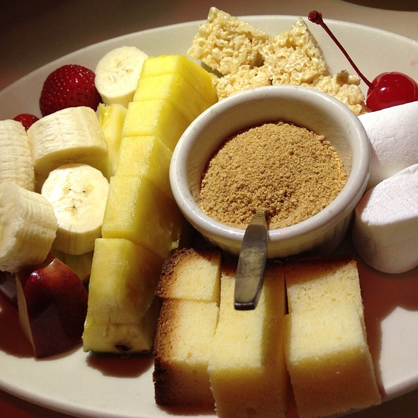 Chocolate Fondue Dippers - Geja's Café, Chicago, IL