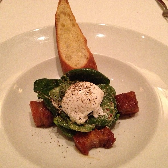 Spinach Salad - Bacchus - A Bartolotta Restaurant, Milwaukee, WI