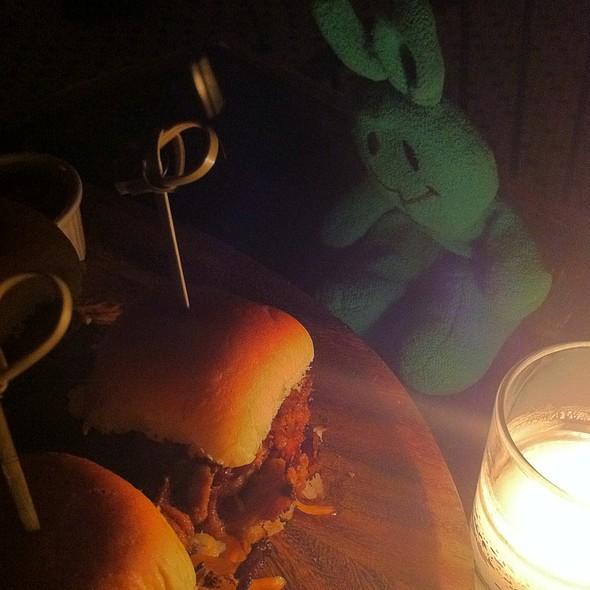Mini Pulled Pork Sliders - Hotel Chantelle, New York, NY