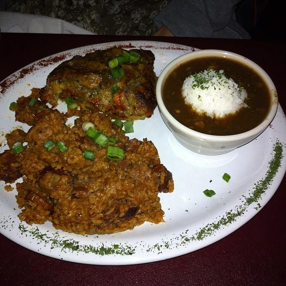 Crawfish Platter With Fried Crawfish Tails And Crawfish Etufee - Marcela's Creole Cookery, Seattle, WA
