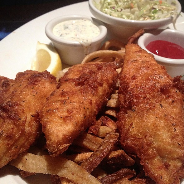 Beer-battered Halibut Fish and Chips - Stanford's - Walnut Creek, Walnut Creek, CA