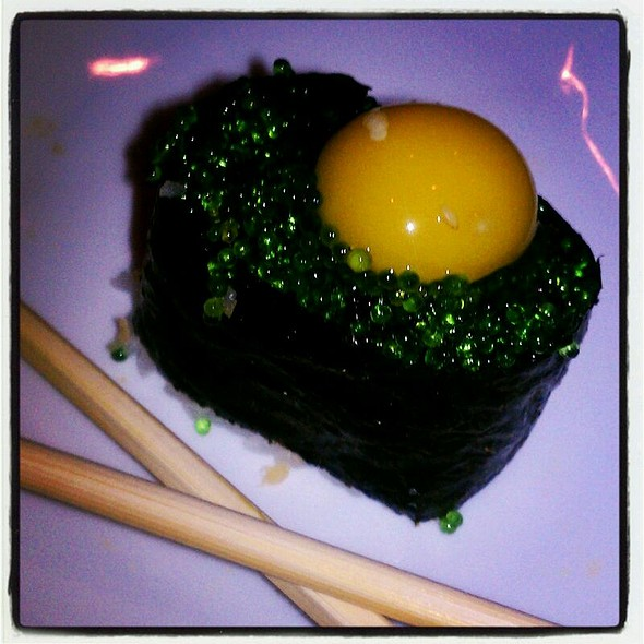 Tobiko With Quail Egg - Screaming Tuna, Milwaukee, WI